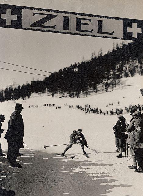 Albert Steiner - Ski kombinierter Lauf und Langlauf 18 km 1928 St. Moritz