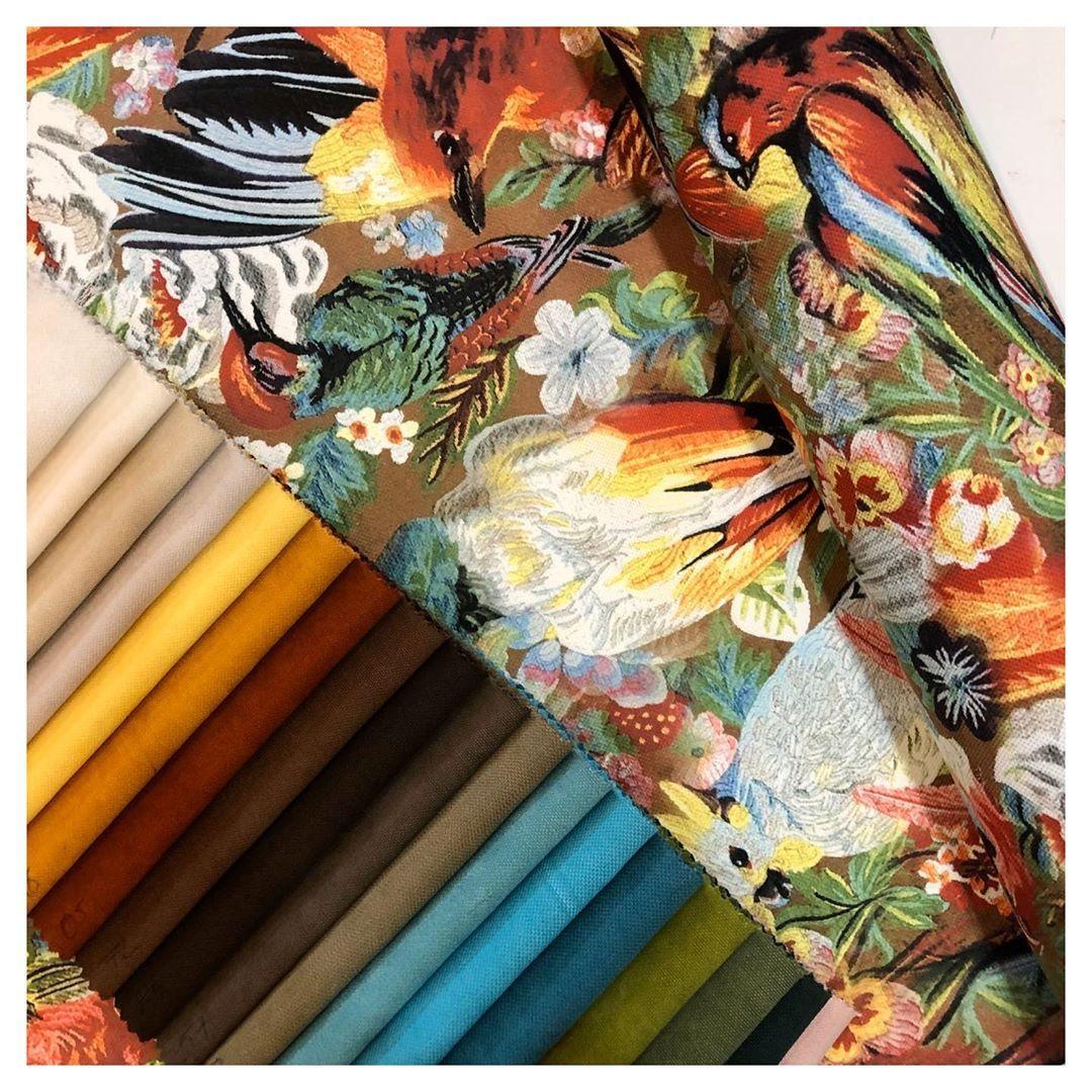 Suzani On Instagram Duz Renk Kumaslarimizdan Istediginiz Renkle Kombinleyebileceginiz Goblen Kus Desenli Kumas Www Suzani Com Tr De In 2020 Home Appliances Hand Fan