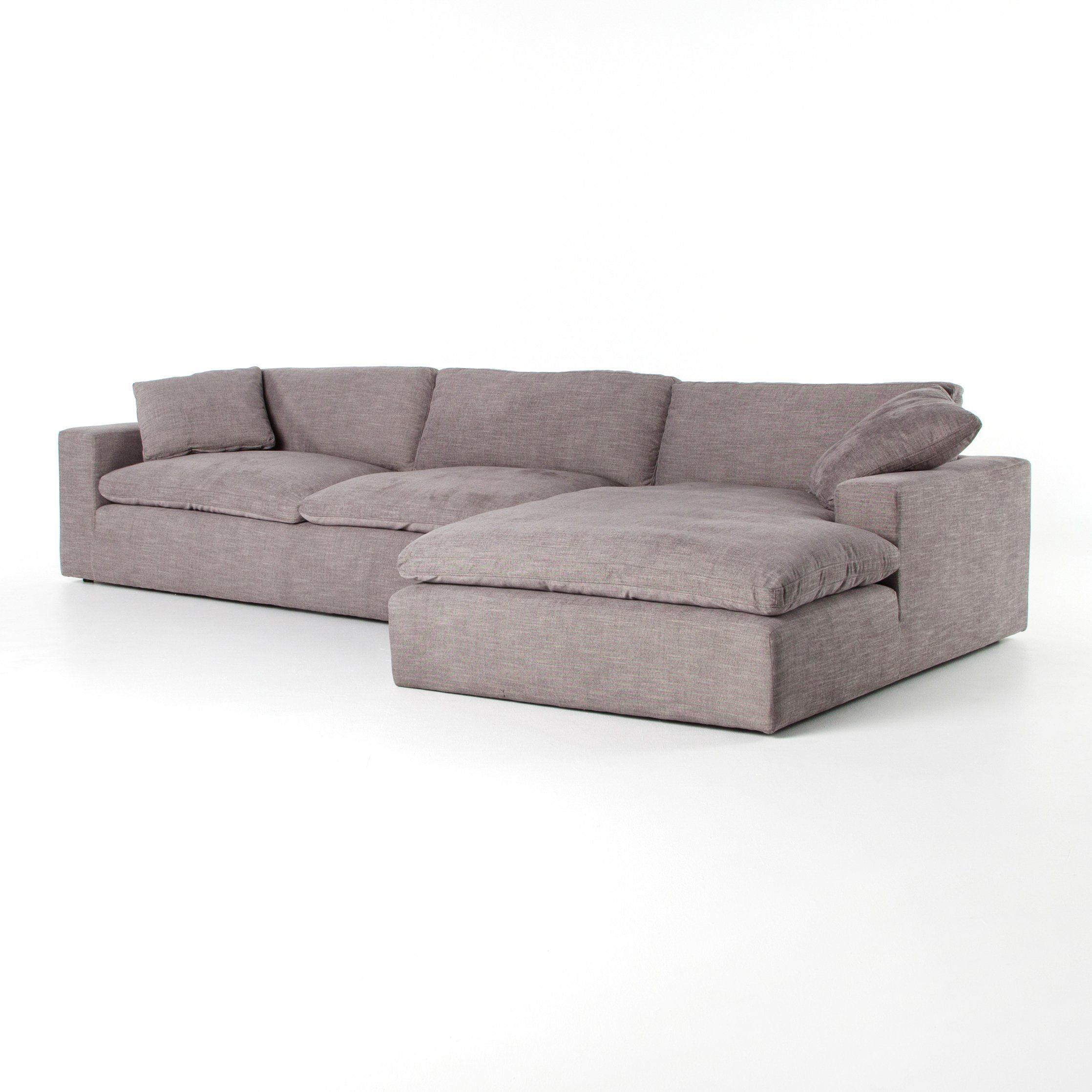 Plume Two Piece Sectional 106 2 Piece Sectional Sofa