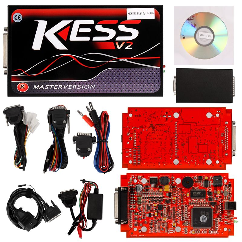 KESS V2 V5 017 EU Red PCB No Token Limited + KTAG V7 020 Master