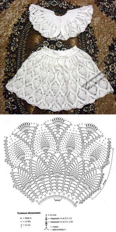 Юбки, платья   Pinterest   Falda niño, Crochet patrones y Esquemas