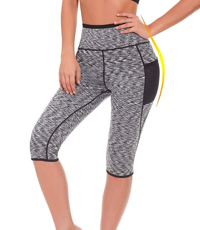 55c3ce048a Women s Neoprene Sauna Slimming Pants-Fat Burning Hot Thermo Sweat Sauna  Capris Leggings Shapers for