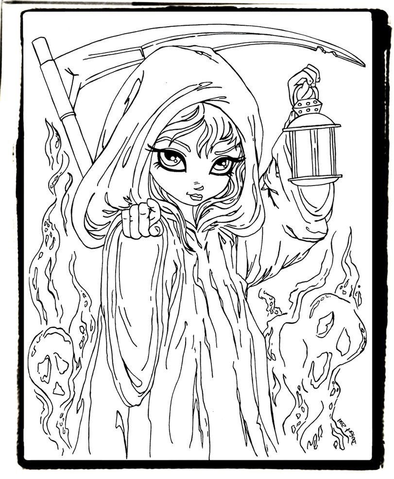 Grim Reaper Halloween Coloring Pages Fairy Coloring Pages Halloween Coloring