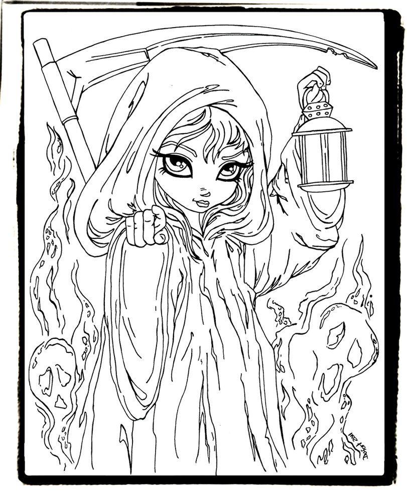Grim Reaper by JadeDragonne on deviantART Digi Stamps