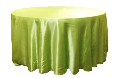 4 Lime Green Bright Green Apple 132 Round Satin Table Linen 50