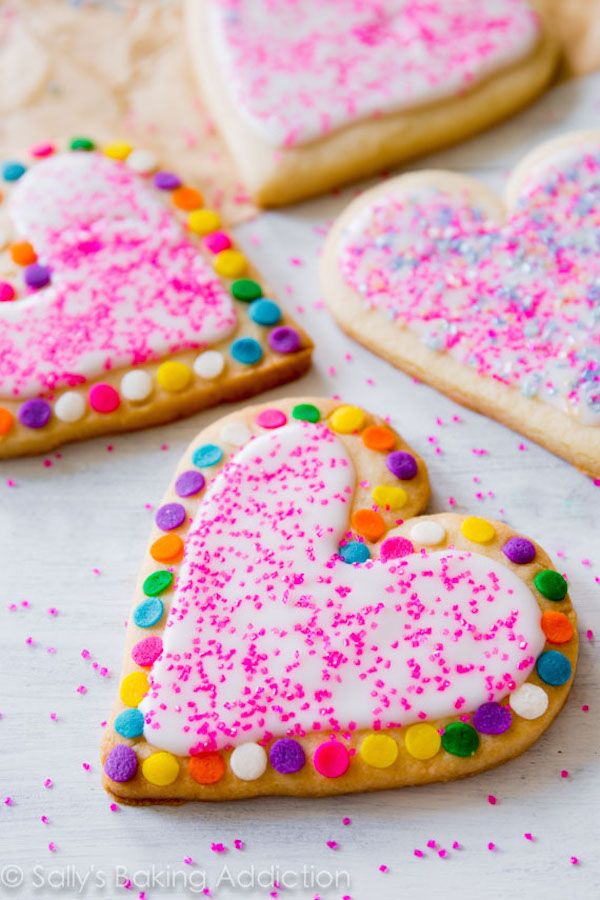 Ooh, such fun, easy Valentine's Day cookie ideas to make with kids | Sally's Baking Addiction
