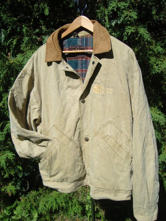 daeb06b36 Canvas Vintage Canada Beaver Lumber Jacket Far by FleecenStuff ...