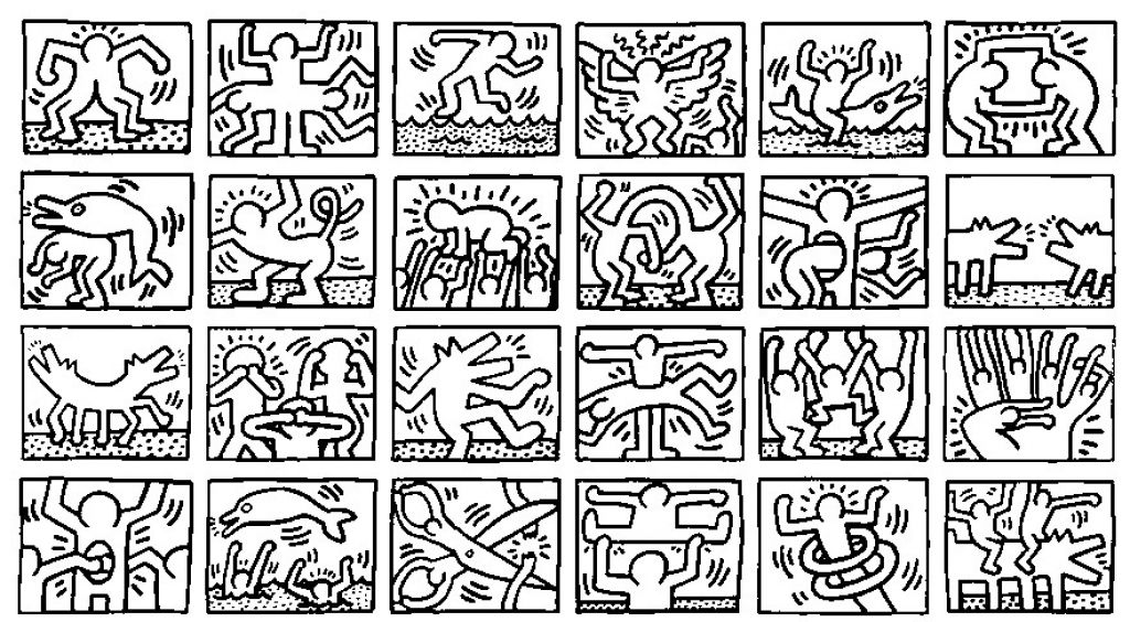 1000 Images About Coloriages Adultes Keith Haring On Pinterest for ...
