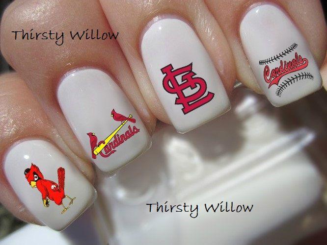 st. louis cardinals nail decals