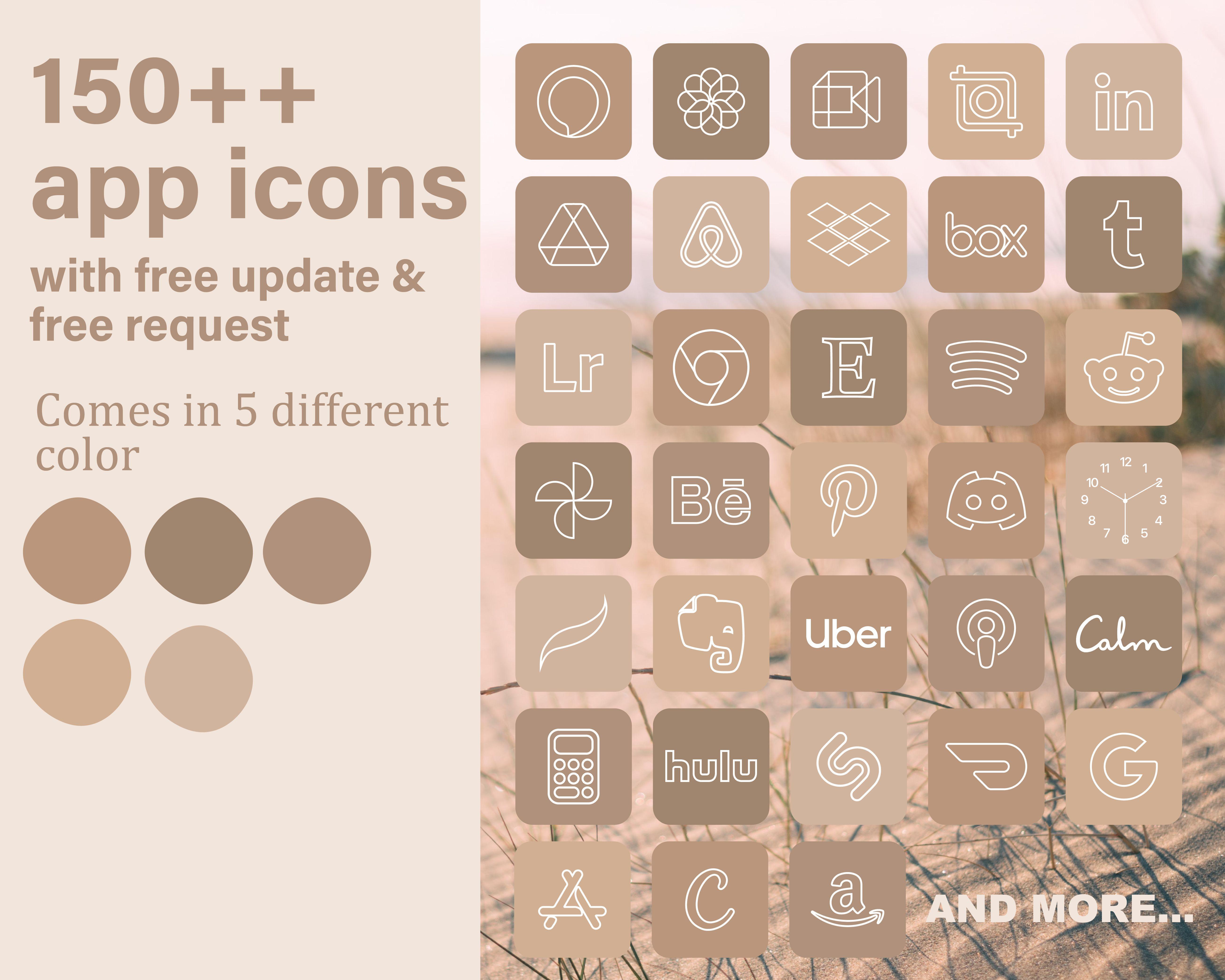 IOS 14 App Icon   Beige Nude Aesthetic App Icon  