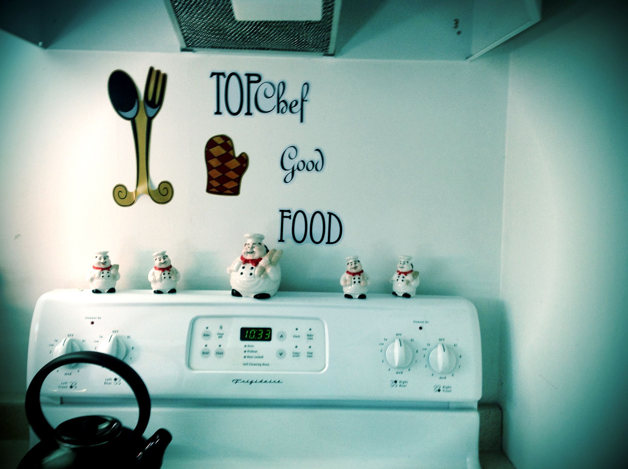 Chef decor for kitchen Stickers only $ 3.00 @ Family Dollar ...
