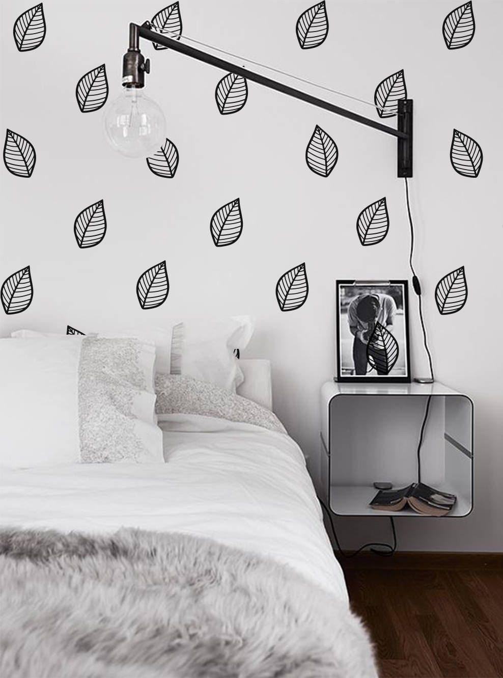 Leaves Wall Decals Leaf Vinyl Decals Nursery Wall Decals Dorm