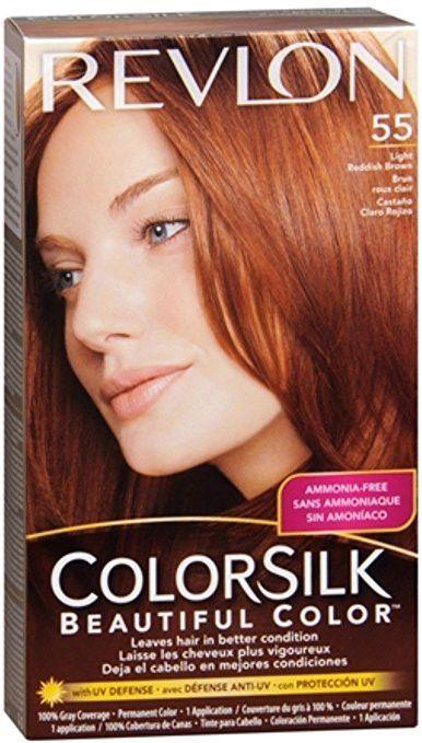 Revlon Colorsilk Beautiful Color No 55 Light Reddish Brown 1 Lication Hair