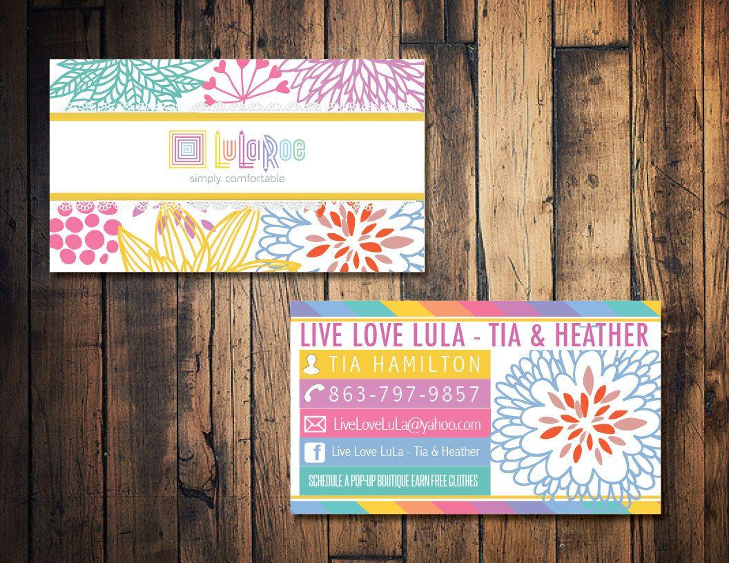 LulaRoe business card, LulaRoe calling card, LulaRoe marketing ...
