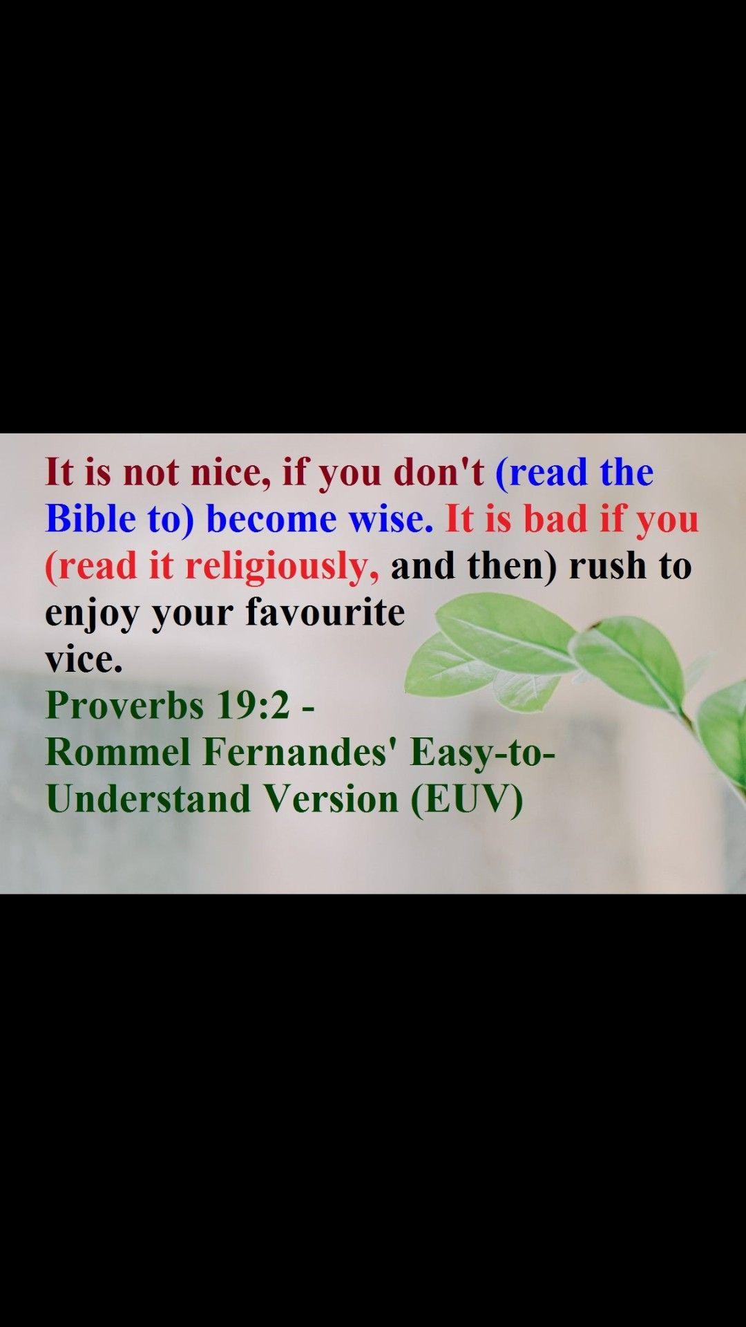 Proverb 19 2 Hymn Of Praise Paraphrase Prov 14