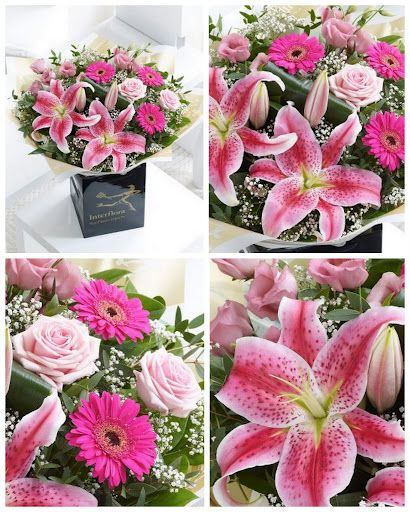 Stargazer Lily, Pink Gerbera, pink rose bouquet ~ the colors of summer ~ Interflora @Mary Parsons
