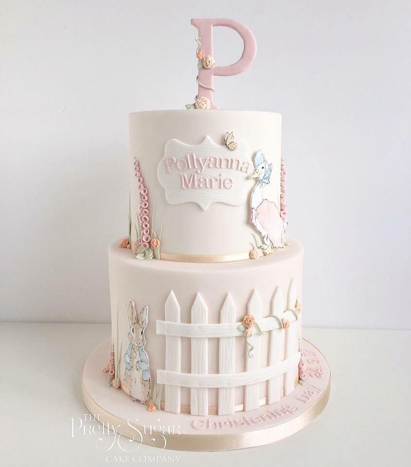 Pin By Karola On Cake With Images Baby Girl Christening Cake