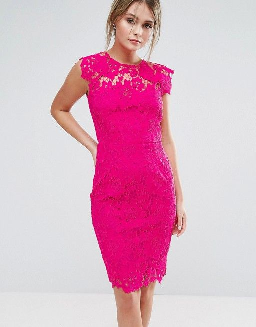 Beautiful Dresses to Wear as a Wedding Guest   Lace cocktail dresses ...