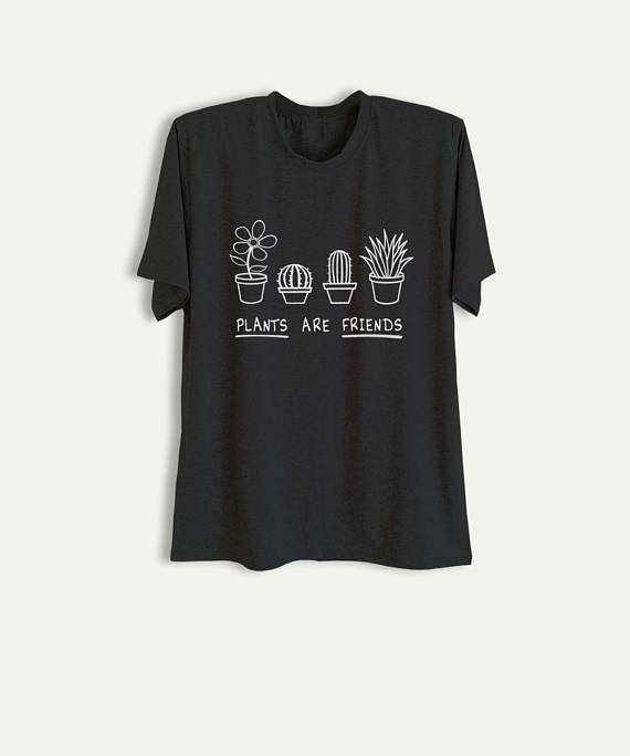 5a29c55dfcf Plants are friends Shirt Plant T Shirt Cactus Graphic Tee Tumblr Printed  TShirt Womens Cute Shirts f