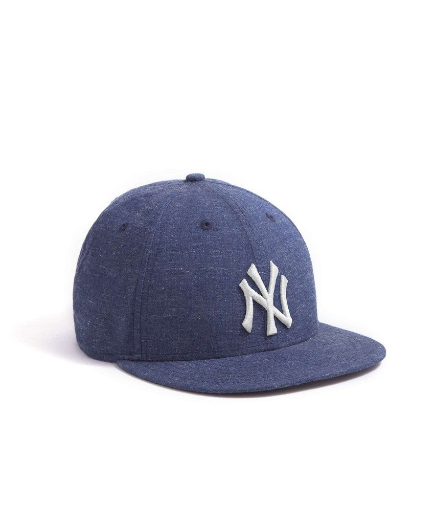 59e11bc3d Todd Snyder + New Era 9Fifty Low Profile Yankee Cap in Indigo Chambray