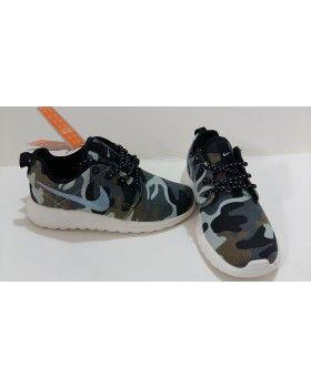 Kids Nike Roshe Run Black cheap Grey Camo