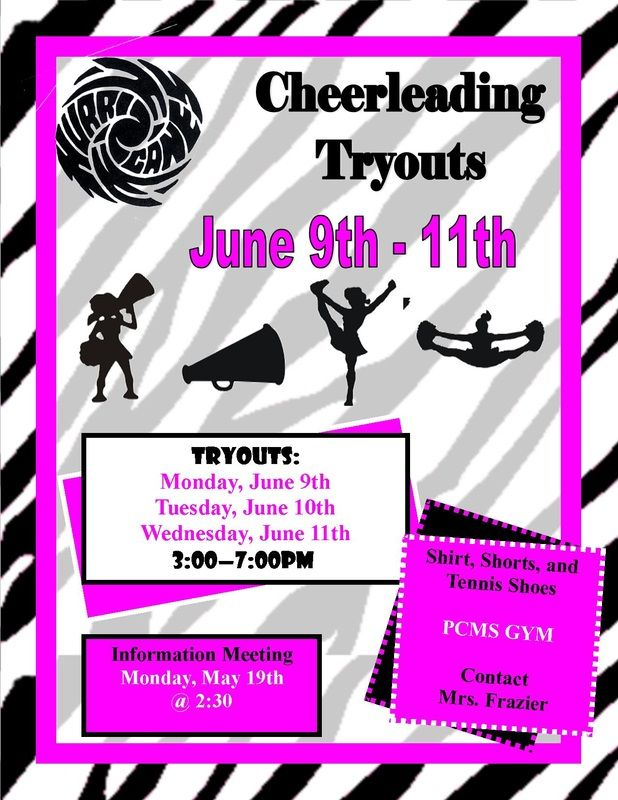 Cheerleading Tryouts Publisher Flyer  Free Download And Edit