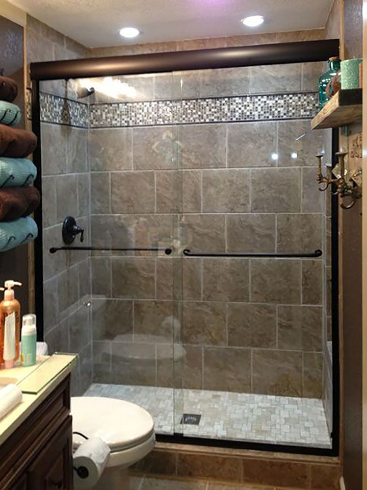 Like The Darker Metal For The Sliding Shower Door. Would Do With A Lighter  Tile Though. Find This Pin And More On Bathroom Design Ideas ...