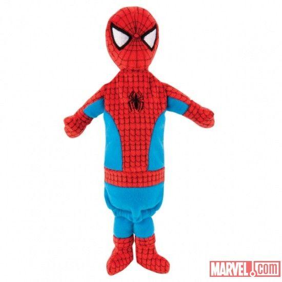 Marvel Crinkle Bottle Stuffer Dog Toy Spider Man