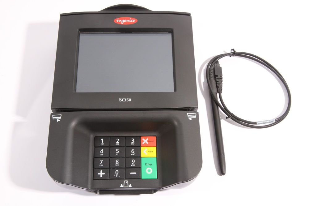 Ingenico Isc350 Touch Screen Payment Credit Card Reader Terminal