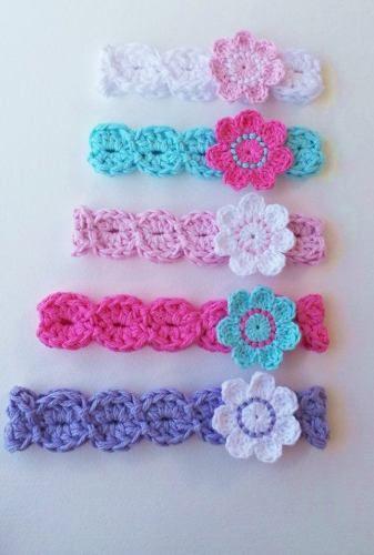 Diademas para bebes paso a paso buscar con google - Diademas a crochet ...