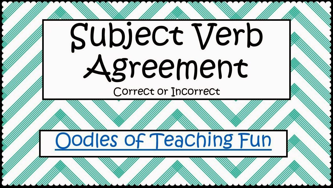 Subject Verb Agreement Practice Free Printable Classroom Ideas