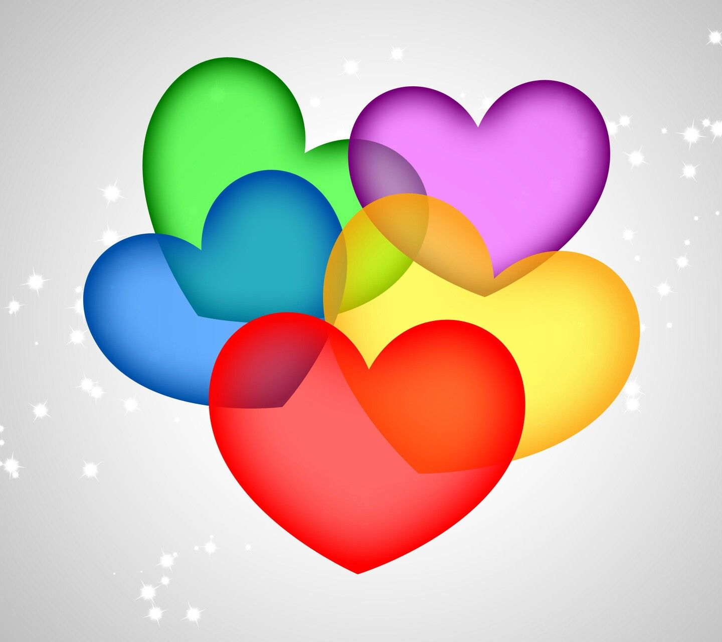 Colorful Heart Wallpaper For Mobile Wallpapersimages Org