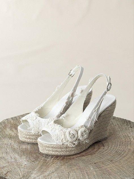 zapatos de novia para un matrimonio en la playa   bodas   bridal