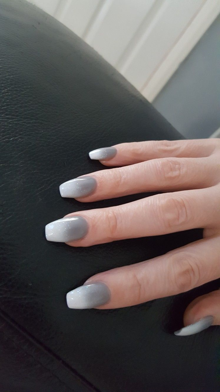 Grey Ombre Nails : ombre, nails, Ombre, Nails, #grey, #ombre, #nails, #acrylics, Ombre,, Acrylic, Nails,, Faded
