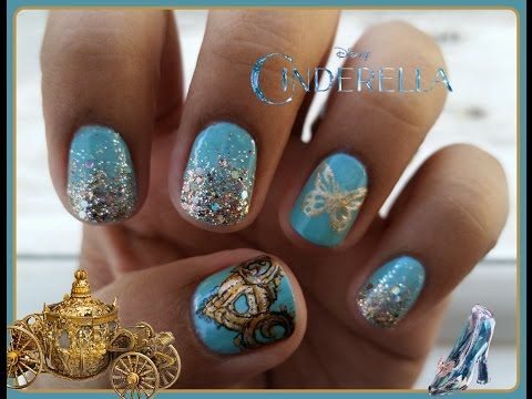 Cinderella Inspired Nails! - YouTube