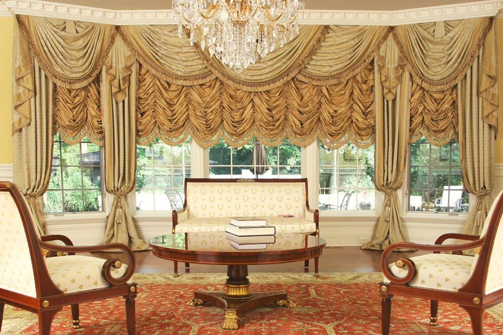 Custom Luxury Drapery For Large Bay Window This Very