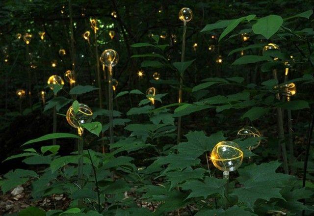 luces bolas jardín originales amarillas ideas para la casa