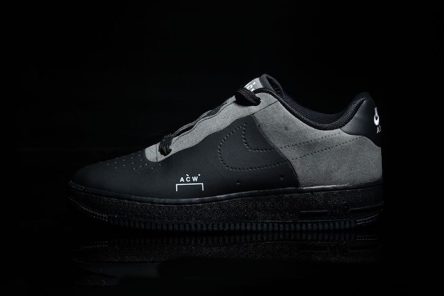 purchase cheap 96b19 2b588 A COLD WALL Nike Air Force 1 Low Black Colorway Grey Leather Suede Samuel  Ross White December 2018 Dark Light Another Look