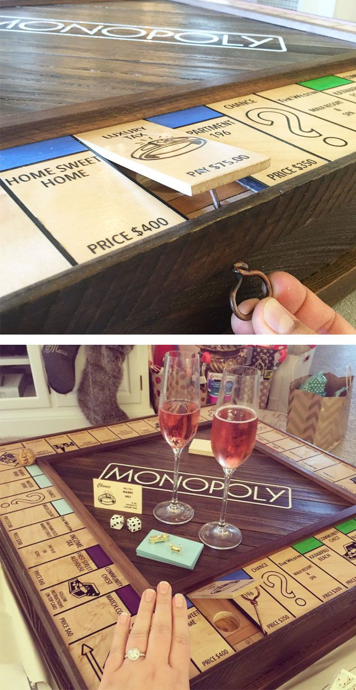 e63783197f ... No Geeky Girl or Boy Could Refuse. Monopoly Board With Secret Ring Box  - Verlobung an der Schlossallee. So wird der Spieleabend unvergesslich.