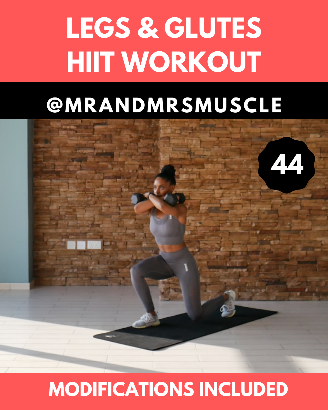 Dumbbell Legs and Glutes Home Workout