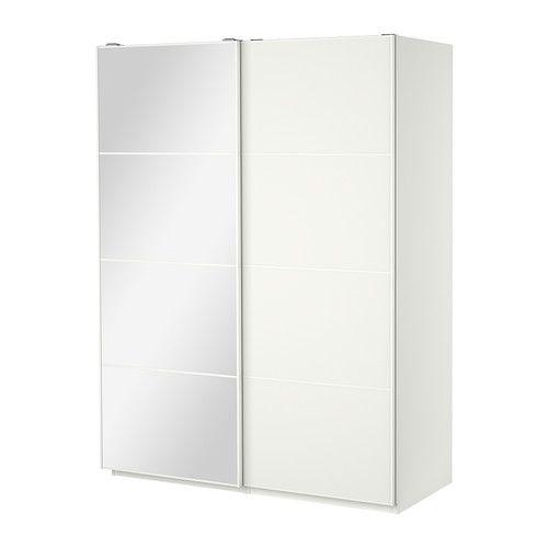 PAX Wardrobe with sliding doors White/auli mehamn