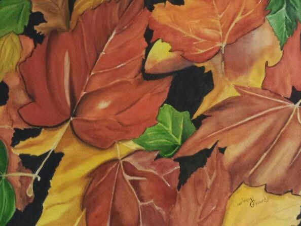 Leaves, leaves, leaves!  11x15 Unframed $75