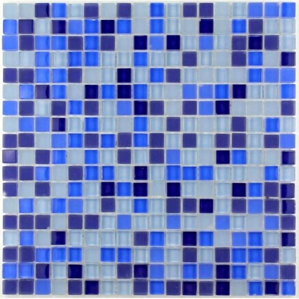 carrelage mosaique verre 1 plaque iris mosaique bleu pinterest salle de bain carrelage et. Black Bedroom Furniture Sets. Home Design Ideas
