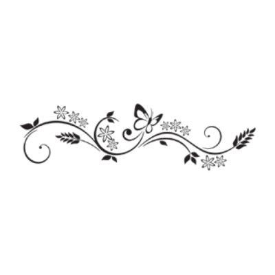 """Style and Apply Flower Flush Wall Decal Size: 9"""" H x 31"""" W, Color: Dark Gray"""