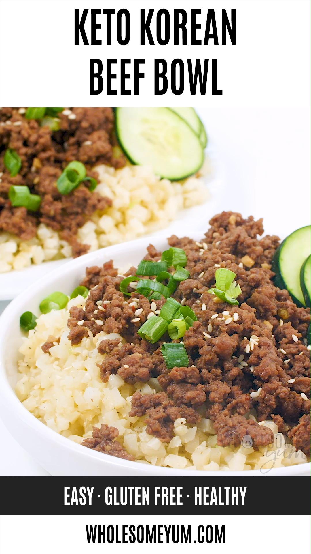 Easy Keto Korean Ground Beef Bowl Recipe