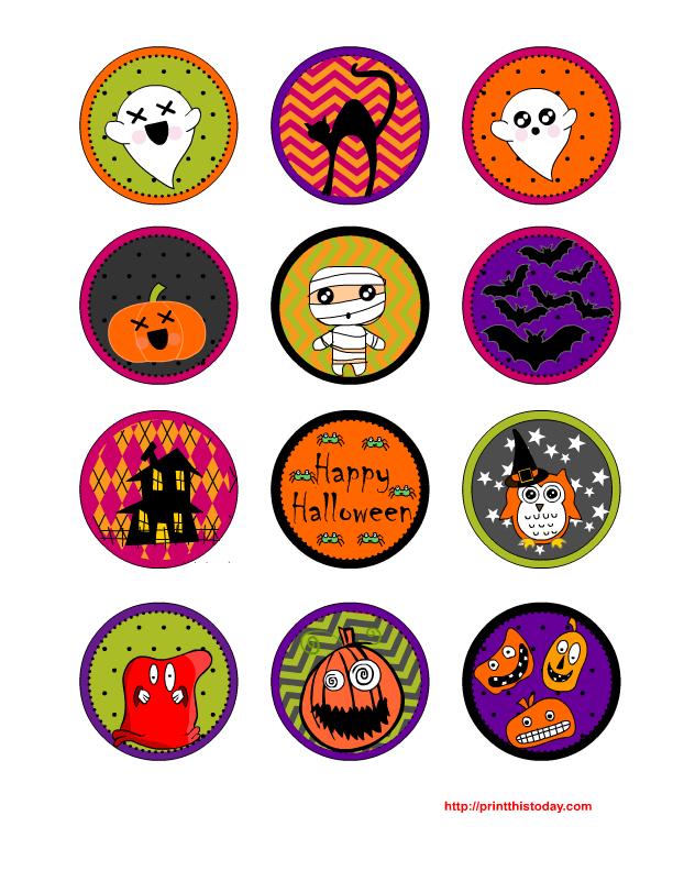 Free Printable Halloween Cupcake Toppers Sheet Halloween