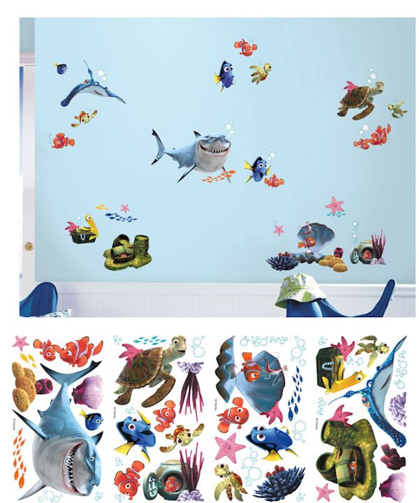 New Finding Nemo Peel and Stick Wall Decals - Wall Sticker Outlet