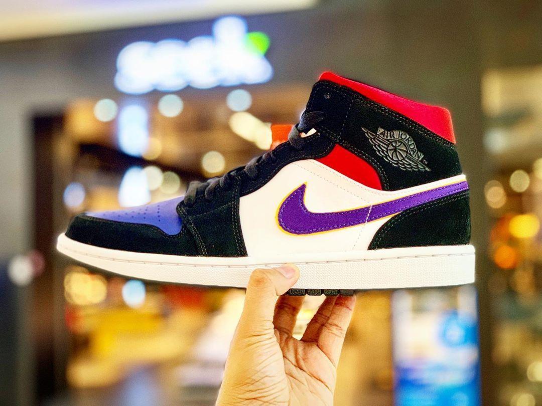 Air Jordan 1 Low Lakers Top 3 Cj9216 051 Black Red Blue In 2020 Air Jordans Retro Air Jordans Jordan 1 Low