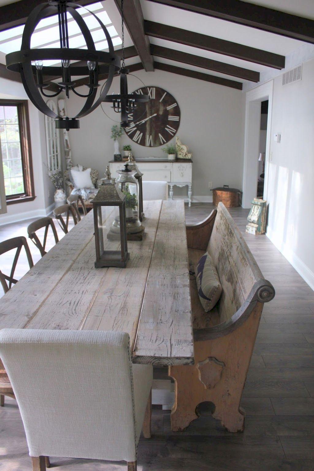 31 Gorgeous Farmhouse Dining Room Decor Ideas   Dining rooms ...