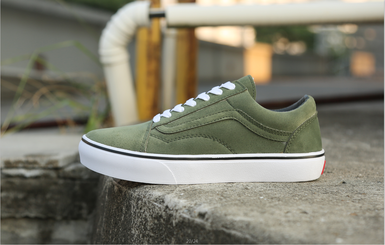 4b17b3d19415 Vans Vault s OG Old Skool LX in Army Green White Vans For Sale  Vans ...